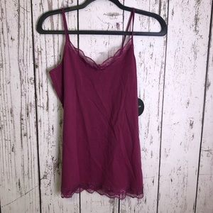 🛍 NWT COTTON ON Lace Layering Cami Large Mulberry